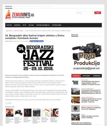 2609 - zemuninfo.rs - 34. Beogradski dzez festival krajem oktobra u Domu omladine i Kombank dvorani