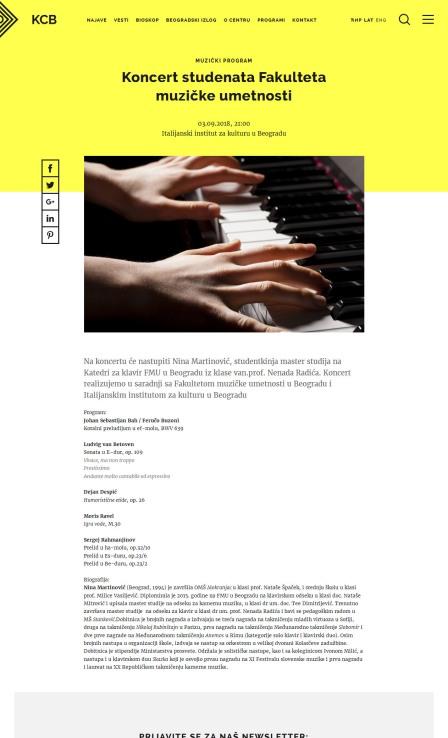 0309 - kcb.org.rs - Koncert studenata Fakulteta muzicke umetnosti