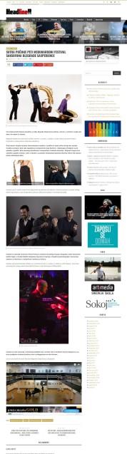 0110 - headliner.rs - Sutra pocinje peti medjunarodni festival saksofona Blegrade SAXperience