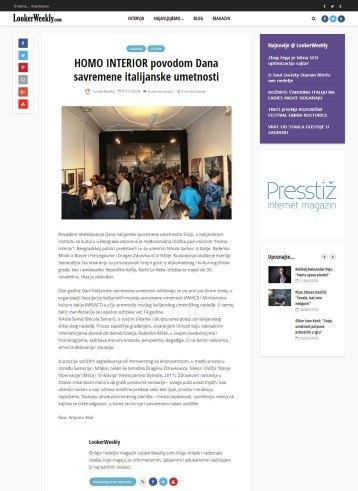 0111 - lookerweekly.com - HOMO INTERIOR povodom Dana savremene italijanske umetnosti
