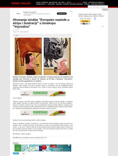 0210 - k-013.com - Otvaranje izlozbe Evropsko nasledje u stripu i ilustraciji u bioskopu Vojvodina