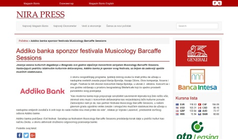 0210 - nirapress.com - Addiko banka sponzor festivala Musicology Barcaffe Sessions