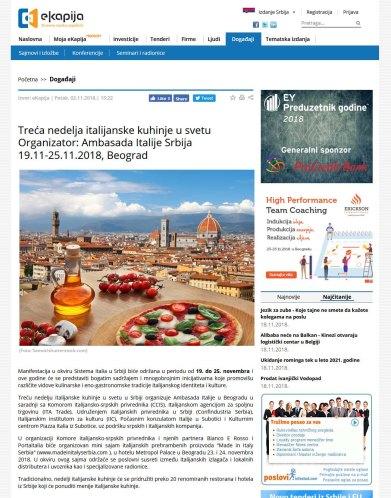 0211 - ekapija.com - Treca nedelja italijanske kuhinje u svetu