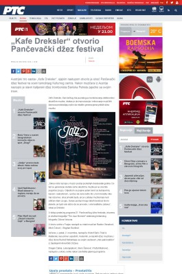 0211 - rts.rs - Kafe Dreksler otvorio Pancevacki dzez festival