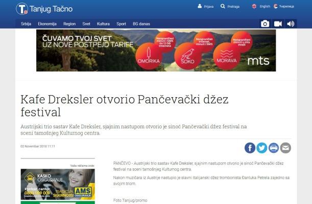 0211 - tanjug.rs - Kafe Dreksler otvorio Pancevacki dzez festival