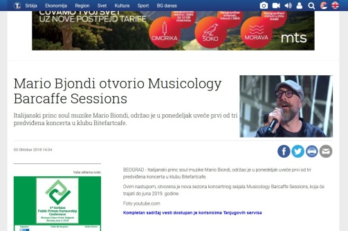0310 - tanjug.rs - Mario Bjondi otvorio Musicology Barcaffe Sessions