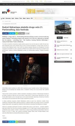 0311 - rtv.rs - Rudres Mahantapa obelezio drugo vece 21. Pancevackog Jazz festivala