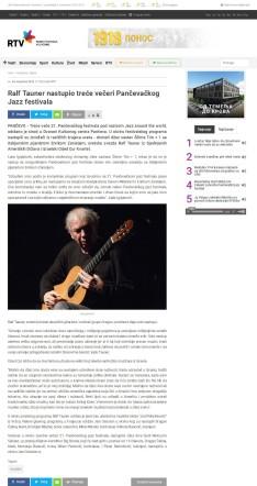 0411 - rtv.rs - Ralf Tauner nastupio trece veceri Pancevackog Jazz festivala