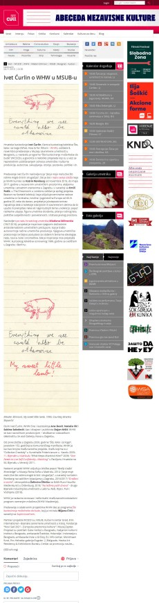 0411 - seecult.org - Ivet Curlin o WHW u MSUB-u