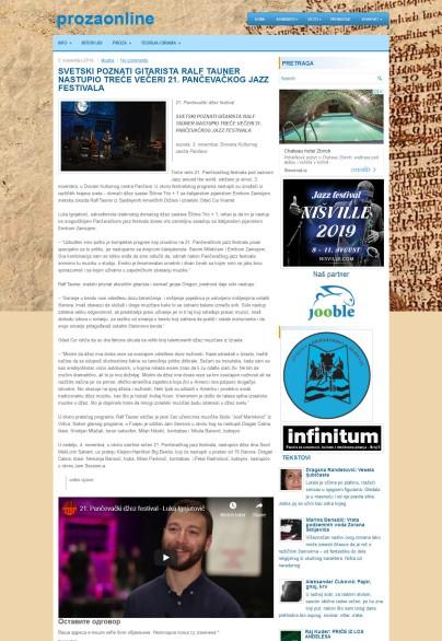 0511 - prozaonline.com - SVETSKI POZNATI GITARISTA RALF TAUNER NASTUPIO TRECE VECERI 21. PANCEVACKOG JAZZ FESTIVALA