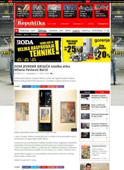 0511 - republika.rs - DOM JEVREME GRUJICA Izlozba slika Milene Pavlovic Barili