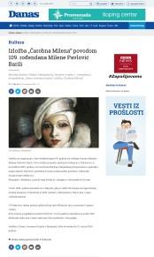 0611 - danas.rs - Izlozba Carobna Milena povodom 109. rodjendana Milene Pavlovic Barili