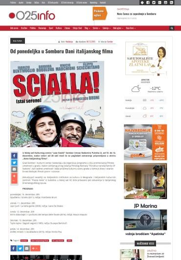 0612 - 025info.rs - Od ponedeljka u Somboru Dani italijanskog filma