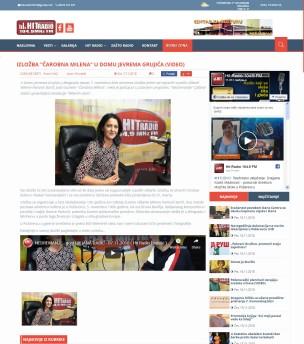 0711 - hitradio.rs - Izlozba Carobna Milena u Domu Jevrema Grujica