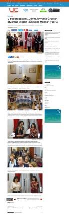 0811 - urbancityradio.org - U beogradskom Domu Jevrema Grujica otvorena izlozba Carobna Milena