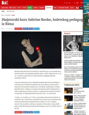 0911 - blic.rs - Majstorski kurs Sabrine Bosko, baletskog pedagoga iz Rima