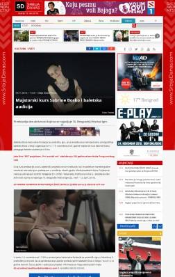0911 - srbijadanas.com - Majstorski kurs Sabrine Bosko i baletska audicija