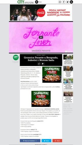 1010 - citymagazine.rs - Groznica Ferante u Beogradu, Subotici i Novom Sadu