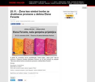 1111 - k-013.com - 23.11. - Zena kao simbol borbe za društvene promene u delima Elene Ferante