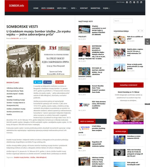 1201 - sombor.info - U Gradskom muzeju Sombor izlozba Za srpsku vojsku- jedna zaboravl-ÿena prica