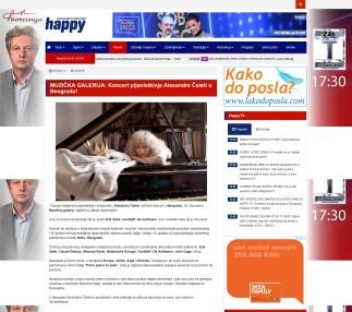 1202 - happytv.tv - MUZICKA GALERIJA- Koncert pijanistkinje Alesandre Celeti u Beogradu