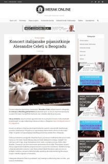 1202 - merakonline.com - Koncert italijanske pijanistkinje Alesandre Celeti u Beogradu