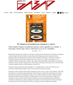 1411 - bazar.co.rs - III Nedelja italijanske kuhinje u svetu