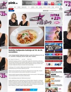 1411 - pink.rs - Nedelja italijanske kuhinje od 19. do 25. novembra