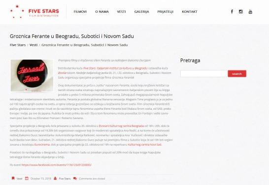 1510 - fivestarsfilms.rs - Groznica Ferante u Beogradu, Subotici i Novom Sadu