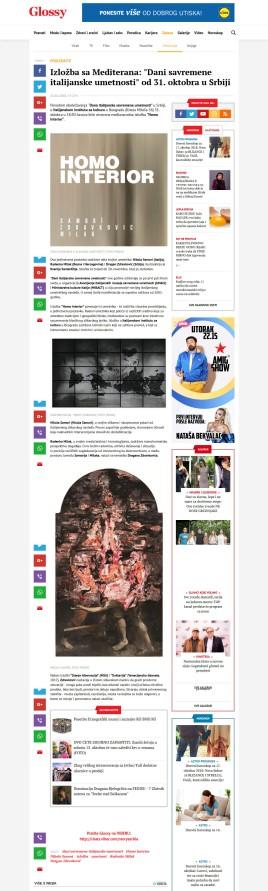 1510 - glossy.espreso.rs - Izlozba sa Mediterana- Dani savremene italijanske umetnosti od 31. oktobra u Srbiji