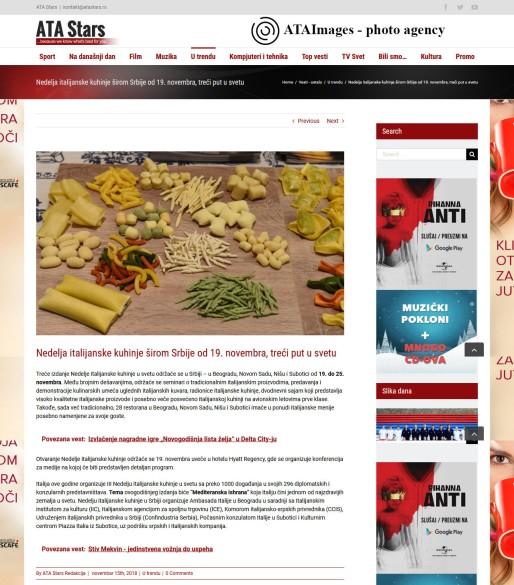 1511 - atastars.rs - Nedelja italijanske kuhinje sirom Srbije od 19. novembra, treci put u svetu