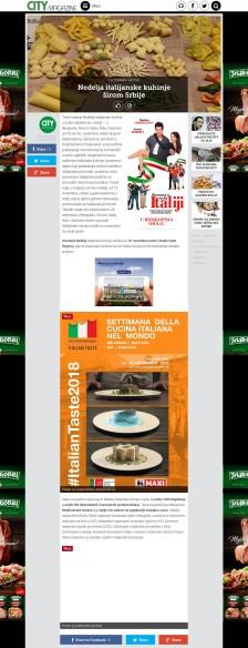 1511 - citymagazine.rs - Nedelja italijanske kuhinje +íirom Srbije CityMagazine