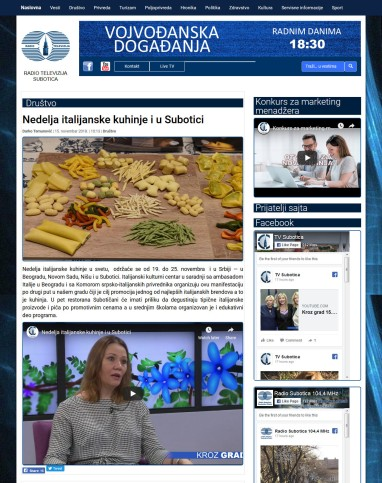 1511 - tvsubotica.com - Nedelja italijanske kuhinje i u Subotici