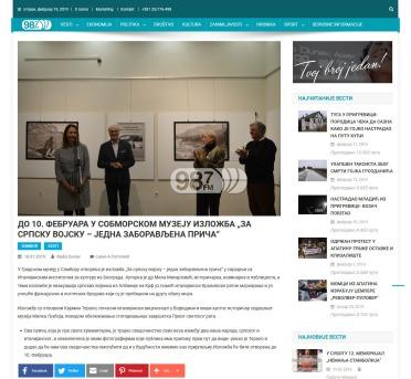 1801 - radiodunav.com - Do 10. februara u somborskom muzeju izlozba za srpsku vojsku