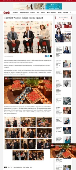 1911 - cordmagazine.com - The third week of Italian cuisine opened