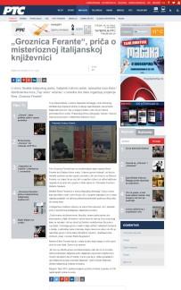 2010 - rts.rs - Groznica Ferante, prica o misterioznoj italijanskoj knjizevnici