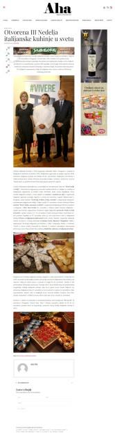 2011 - ahamagazin.rs - Otvorena III Nedelja italijanske kuhinje u svetu