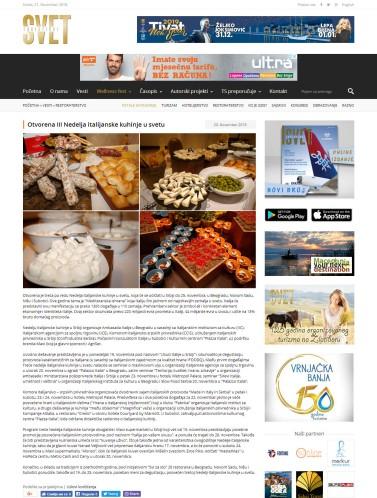 2011 - turistickisvet.com - Otvorena III Nedelja italijanske kuhinje u svetu