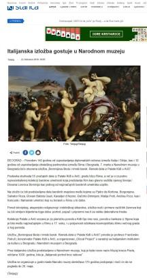 2202 - krstarica.com - Italijanska izlozba gostuje u Narodnom muzeju