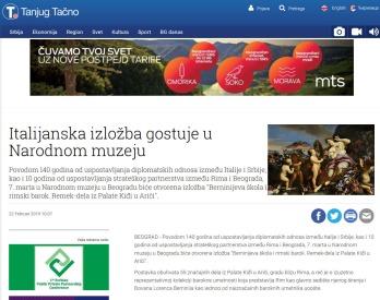 2202 - tanjug.rs - Italijanska izlozba gostuje u Narodnom muzeju