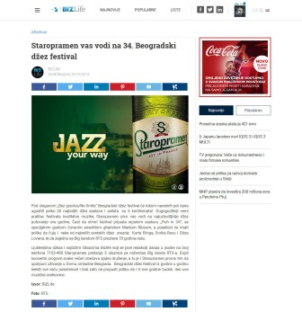 2510 - bizlife.rs - Staropramen vas vodi na 34. Beogradski dzez festival
