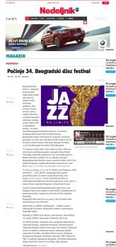 2510 - nedeljnik.rs - Pocinje 34. Beogradski dzez festival