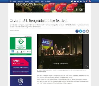 2510 - tanjug.rs - Otvoren 34. Beogradski dzez festival