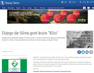 2702 - tanjug.rs - Dijego de Silva gost kuce Klio