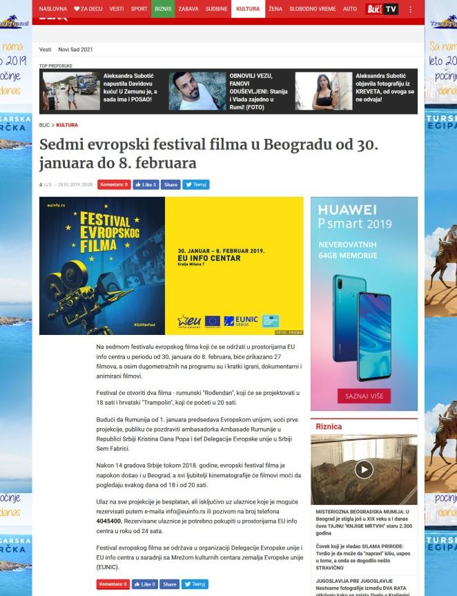 2801 - blic.rs - Sedmi evropski festival filma u Beogradu od 30. januara do 8. februara