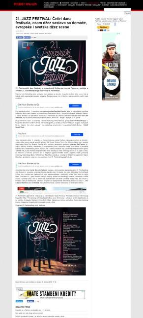 3010 - k-013.com - 21. JAZZ FESTIVAL- Cetiri dana festivala, osam dzez sastava sa domace, evropske i svetske dzez scene