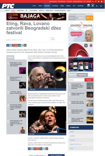 3010 - rts.rs - Eling, Rava, Lovano zatvorili Beogradski dzez festival