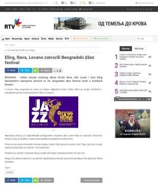 3010 - rtv.rs - Eling, Rava, Lovano zatvorili Beogradski dzez festival