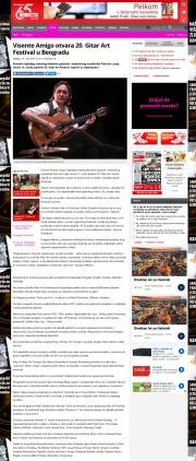 0103 - novosti.rs - Visente Amigo otvara 20. Gitar Art Festival u Beogradu