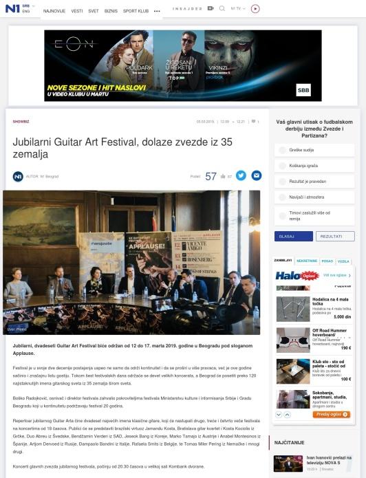 0303 - rs.n1info.com - Jubilarni Guitar Art Festival, dolaze zvezde iz 35 zemalja